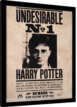 Inramad poster Harry Potter - Undesirable N.1