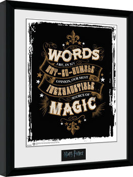 Harry Potter - Words Inramad poster