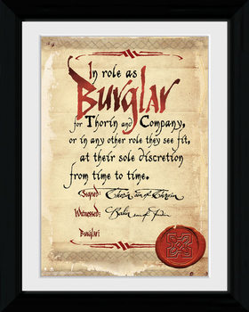 Hobbit - Burglar Poster & Affisch