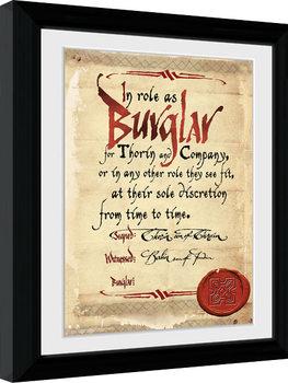 Hobbit - Burglar Inramad poster