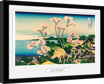 Inramad poster Hokusai - Goten Yama Hill