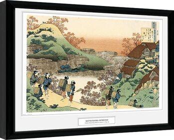 Inramad poster Hokusai - Women Returning Home