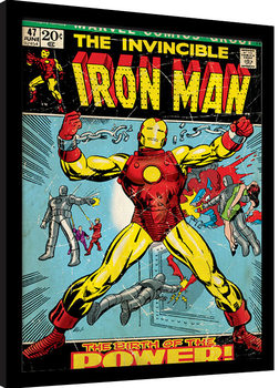Iron Man - Birth Of Power Inramad poster