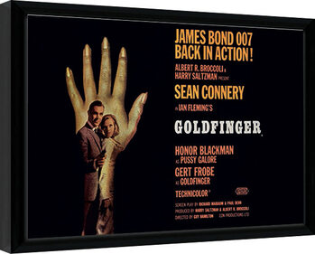 Inramad poster James Bond - Goldfinger - One Sheet