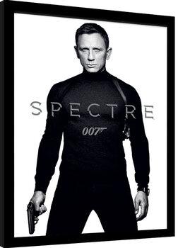 Inramad poster James Bond: Spectre - Black and White Teaser