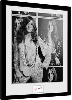 Janis Joplin - Wolman BW Inramad poster