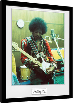 Jimi Hendrix - Studio Inramad poster