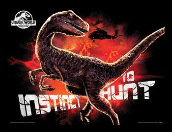 Jurassic World: Fallen Kingdom - Instinct To Hunt Inramad poster