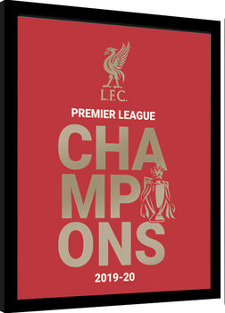 Inramad poster Liverpool FC - Champions 19/20