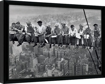 Lunch on a Skyscraper Inramad poster