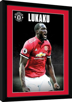 Manchester United - Lukaku Stand 17/18 Inramad poster