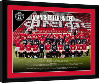 Manchester United - Team Photo 17/18 Inramad poster