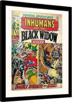 Inramad poster Marvel - Amazing Adventures