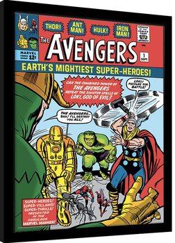 Inramad poster Marvel Comics - Avengers vs Loki