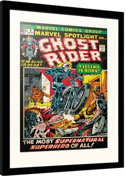 Inramad poster Marvel - Ghost Riders