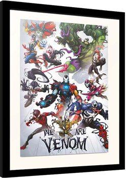 Inramad poster Marvel - We Are Venom