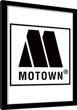MOTOWN records - Logo Inramad poster