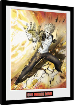 Inramad poster One Punch Man - Genos
