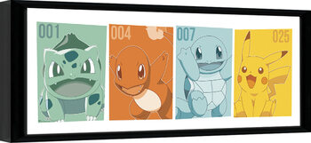 Inramad poster Pokemon - Kanto Partners
