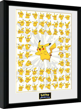 Inramad poster Pokemon - Pikachu