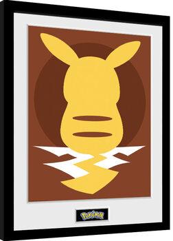 Inramad poster Pokemon - Pikachu Silho 25