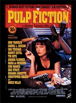 Pulp Fiction - Uma On Bed Inramad poster