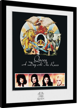 Queen - Day At The Races Inramad poster