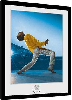 Queen - Wembley Inramad poster
