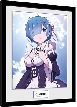 Inramad poster Re: Zero - Rem Clouds