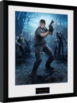 Resident Evil - Leon Gun Inramad poster
