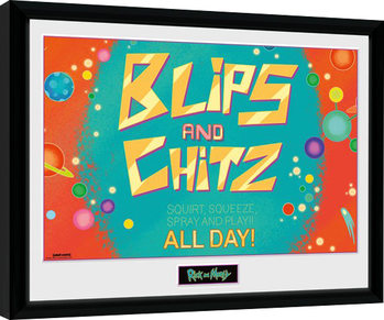 Inramad poster Rick and Morty - Blitz and Chitz