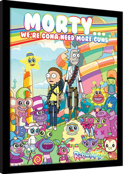 Rick and Morty – Cuteness Overload Inramad poster