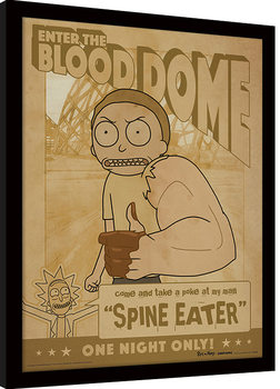 Rick and Morty - Enter The Blood Dome Inramad poster