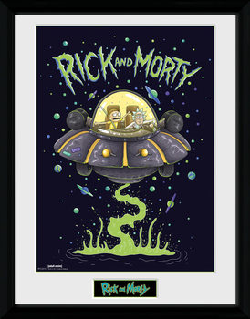 Inramad poster Rick and Morty - Ship