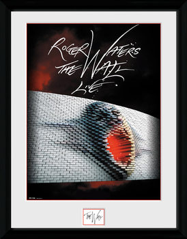 Roger Waters: The Wall - Tour Poster Inramad poster