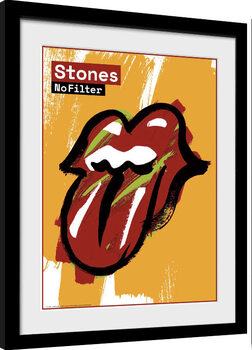 Inramad poster Rolling Stones - No Filter