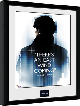 Sherlock - East Wind Inramad poster