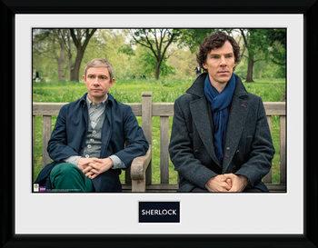 Sherlock - Park Bench Inramad poster