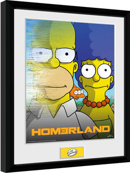 Simpsons - Homerland Inramad poster