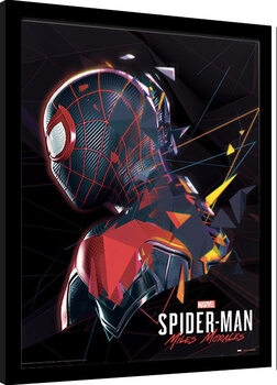 Inramad poster Spider-Man Miles Morales - System Shock