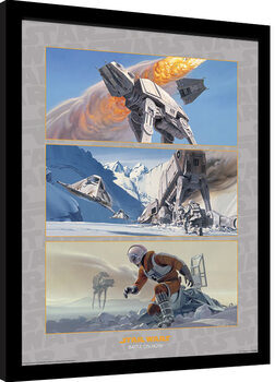Inramad poster Star Wars - Battle on Hoth