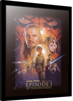 Inramad poster Star Wars: Episod I - Det mörka hotet