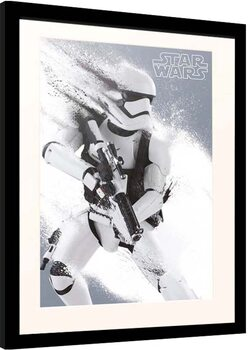 Inramad poster Star Wars: Episode VII - The Force Awakens - Stormtrooper