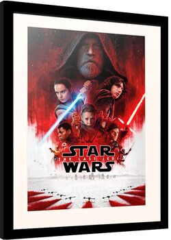 Inramad poster Star Wars: Episode VIII - The Last of the Jedi - One Sheet