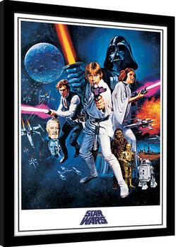 Inramad poster Star Wars: Ett nytt hopp - One Sheet