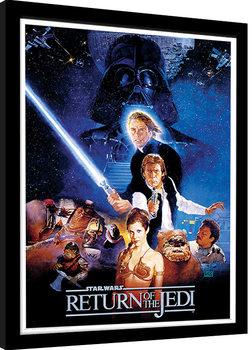 Inramad poster Star Wars: Jedins återkomst - One Sheet