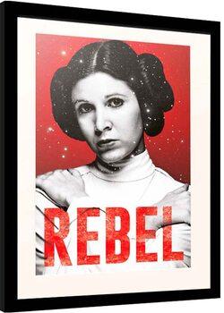 Inramad poster Star Wars - Leia Rebel