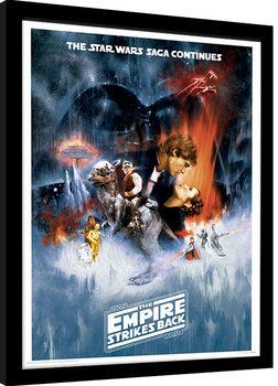 Inramad poster Star Wars: Rymdimperiet slår tillbaka - One Sheet