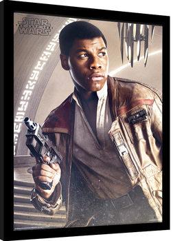 Star Wars: The Last Jedi- Finn Blaster Inramad poster