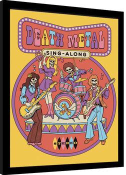 Inramad poster Steven Rhodes - Death Metal Sing Alon